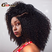 Brazilian Kinky Curly Wigs For Black Women Gossip Lace Front Human Hair Wigs Pre Plucked Front