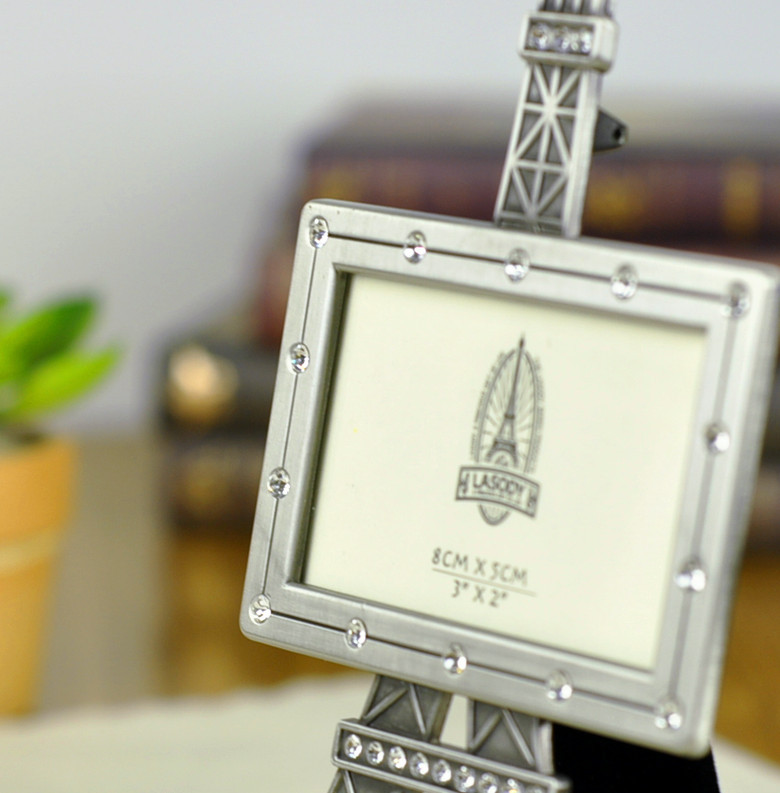 aliexpresscom buy free shipping fashionable zinc alloy photo frame diamond setting paris eiffel tower photo frame home decoration wedding gift from