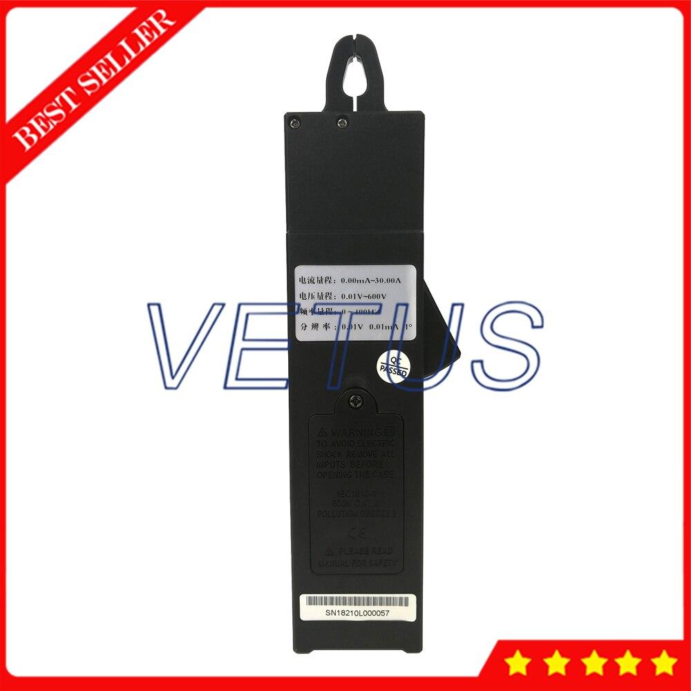 S210 однозажимной цифровой фазный Вольт Амперметр мини фазный Вольт Амперметр ЖК дисплей с 0 до 400 Гц Частотный диапазон - 2