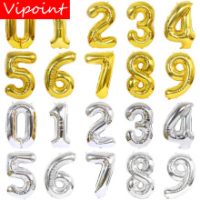 VIPOINT PARTY 40inch gold silver number foil balloons wedding event christmas halloween festival birthday party HY-44
