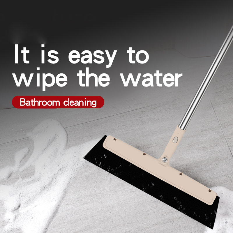 Image 2 - Bathroom special handle Rubber Mop Clean Dust Hair Bathroom Glass  Wiper Blade Cleaning Sweeper Multifunctional Kitchen Tools-in Brooms & Dustpans from Home & Garden