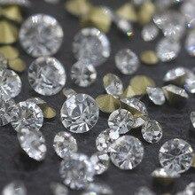 SS0-SS45 Стразы со стразами, прозрачный белый стеклянный кристалл для 3D украшения ногтей, аксессуары для свадьбы