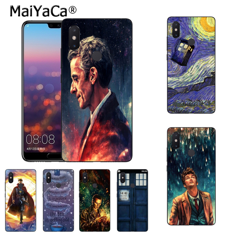 Half-wrapped Case Maiyaca Tardis Box Doctor Who Painted Cover Design Phone Case For Xiaomi Mi 6 6x Note2 Note3 8 8se Redmi 5 5plus Note5 Note4