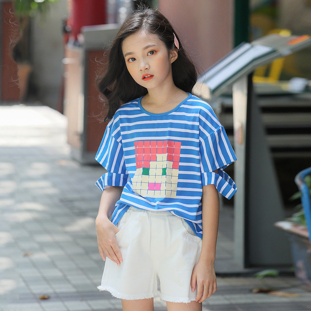 2019 Fashion Teenager Shorts Summer Denim Shorts For Girls Cool Teens Girl  Swag Short Jeans 5 6 7 8 9 10 12 14 Years Old Kids