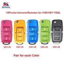XHORSE 10 Peças X001 Série Colorido (Azul Amarelo Rosa Verde Preto) 3 Botão para VVDI Ferramenta Chave Chave de Controle Remoto Universal