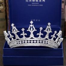 Fashion luxurious crystal CZ zircon Princess crown wedding bride dinner banquet dressing Beauty tiaras jewelry free shipping