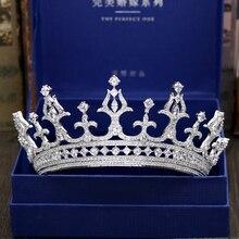 Fashion luxurious crystal CZ zircon Princess crown wedding bride dinner banquet dressing Beauty tiaras jewelry free