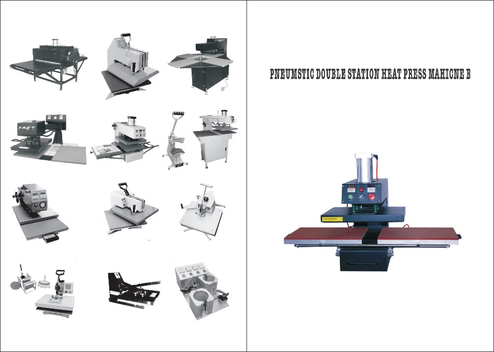 air operated double loction heat press machine 1