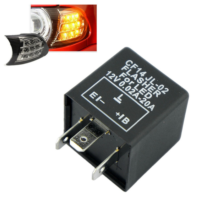 Turn Signal Relay >> Us 2 9 Electronic Led Flasher Blinker Relay 3 Pin Cf 14 Jl 02 Automobile Turn Signal Light Relay Common Waterproof Shockproof In Car Switches