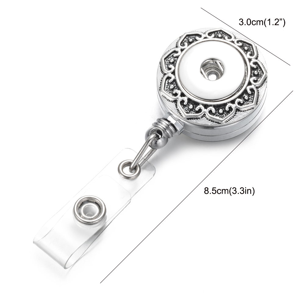 Image 3 - 10pcs/lot Doctor Nurse Snap Button Badge Reel ID holder retractable badge holder interchangeable snap on jewelry fit 18mm snaps-in Pendants from Jewelry & Accessories