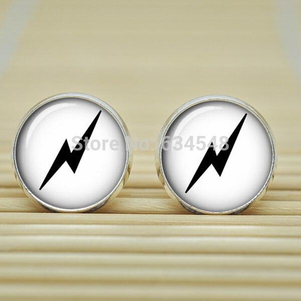1pair Lightning Bolt Symbol Deathly Hallows Hp Always Earrings