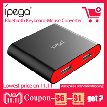 Ipega PG-9096 USB Bluetooth Keyboard-Mouse Converter for Smartphone/Pill for FPS video games/RoS/Knives Out PUBG for xiaomi Samsung