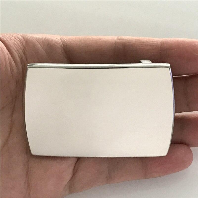 Одноцветное нержавеющая сталь пряжки ремня 70*45 мм Прямоугольный яркий серебристый металл для 4 см широкий пояс моды Для мужчин Для женщин дж...