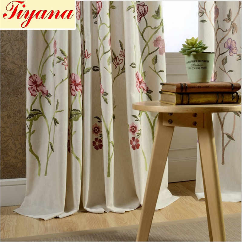 14cc7a1091a2ca Detail Feedback Questions about Modern green coffee blue lily fancy hot  sale curtain cloth drapes for bedroom living room window decoration blind  Su143 *15 ...