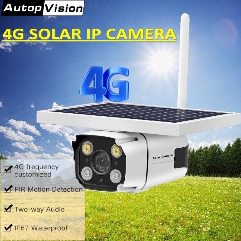 Date sécurité 2MP 4G panneau solaire alimenté IP caméra 1080 P CCTV caméra infrarouge avec batterie intégrée PIR capteur étanche YN88