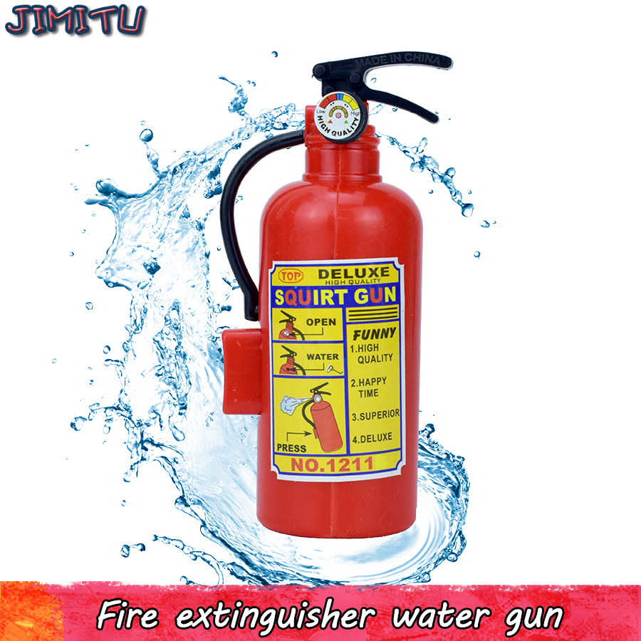 Fire Extinguisher Water Gun Toys For Children Cosplay Fireman Summer Novelty Mini Spray Funny Toys Beach Swimming Party Game