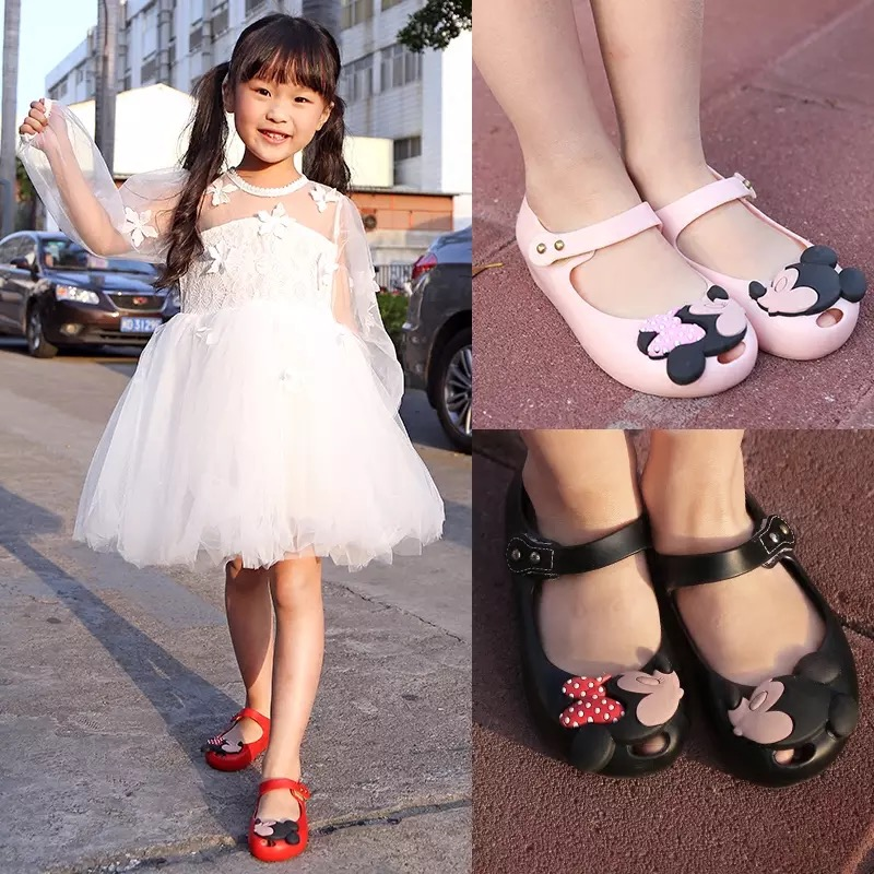 Mini Melissa Girls Jelly Sandals 2017 Kids Sandals Jelly Shoes Satin - Børnesko - Foto 6