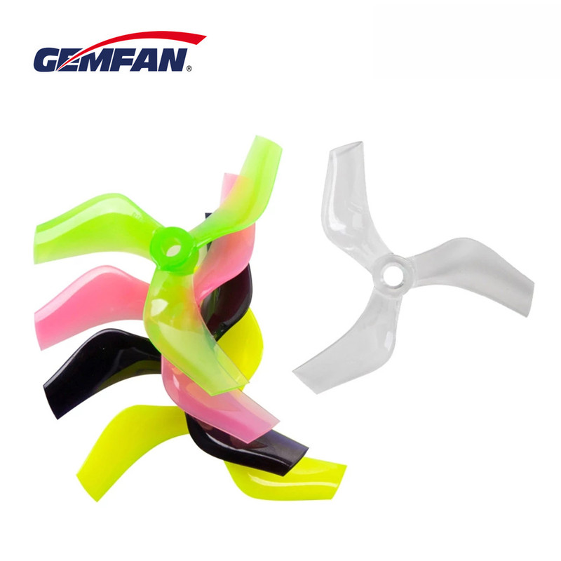 12Pairs 24PCS Gemfan 75mm Ducted Props PC 3-Blade Propeller CW CCW 5mm For 1408-1808 Motor Cinewhoop RC FPV Racing Drone