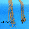 """24 inch 5PCS Free shipping  GOLD FILLED """"O"""" Necklace Making Jewelry Word """"O' Link Necklaces Chains ROLO Chain Necklaces Nice"""