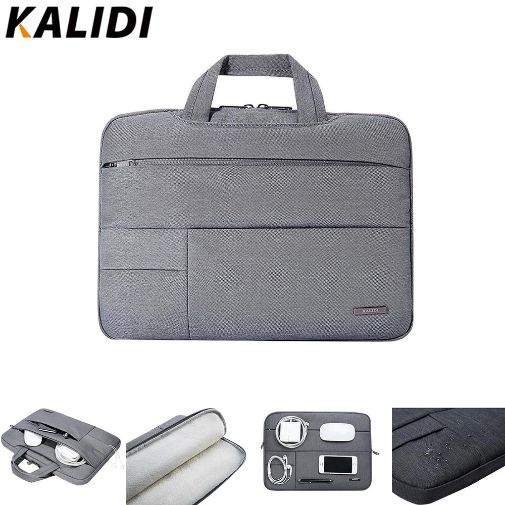 KALIDI Laptop Bag Sleeve 13.3 14 15 15.6 Inch Notebook Bag For Macbook Air Pro 11 13 15 Dell Asus HP Acer Laptop Case Waterproof