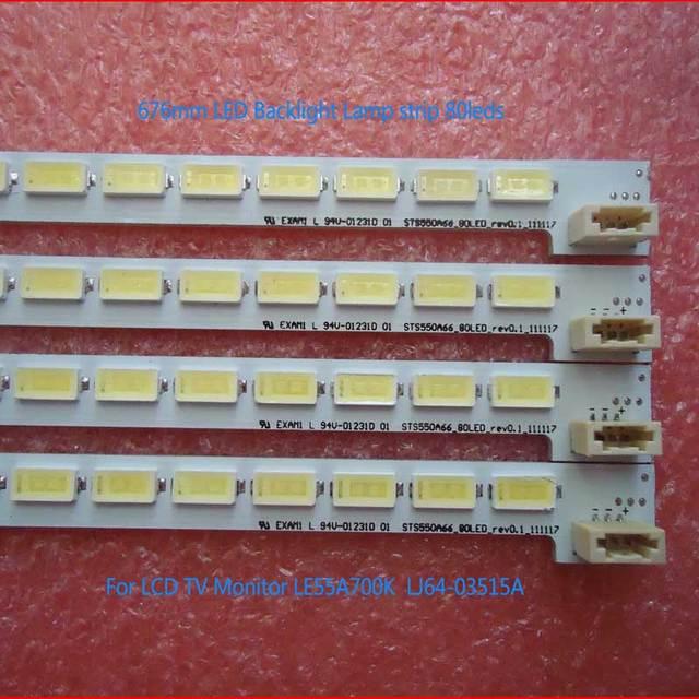 676mm LED Backlight Lamp strip 80leds For LCD TV LTA550HQ22 550HQ20 LE55A700K LED55X5000D LJ64-03515A STS550A66-80LED-REV0.1