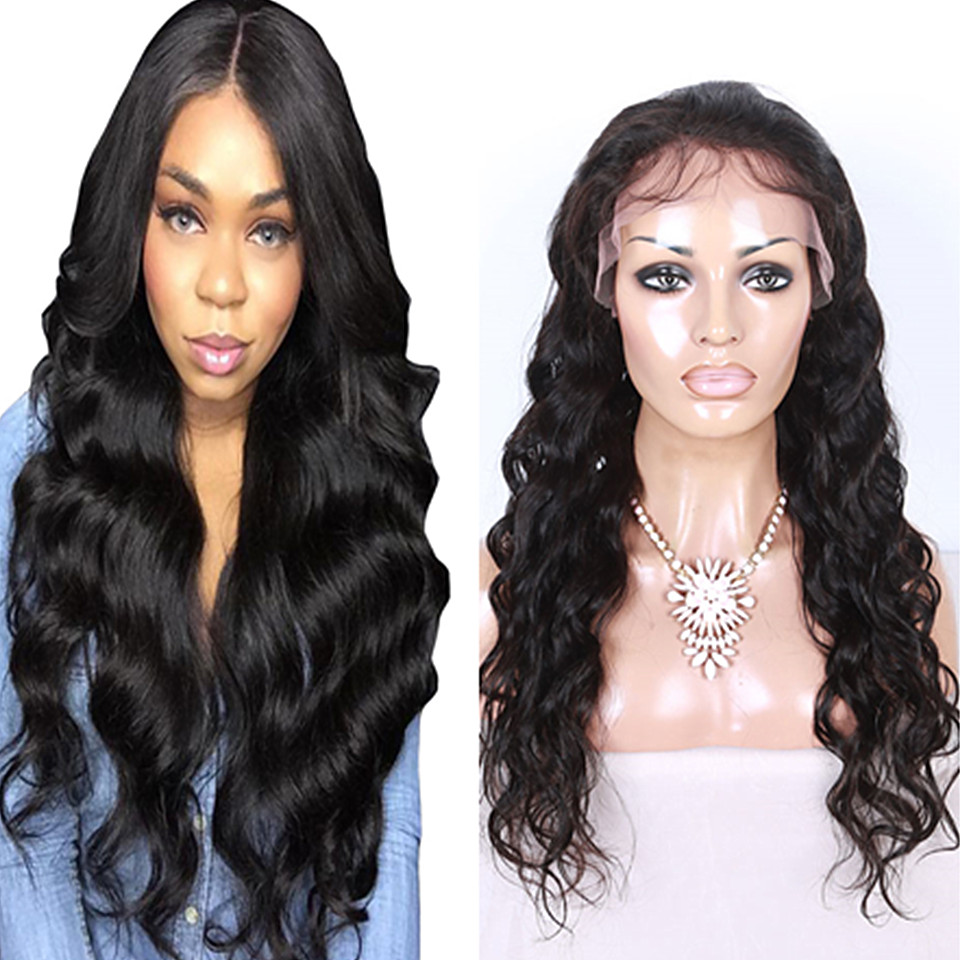 body wave lace front human hair wig