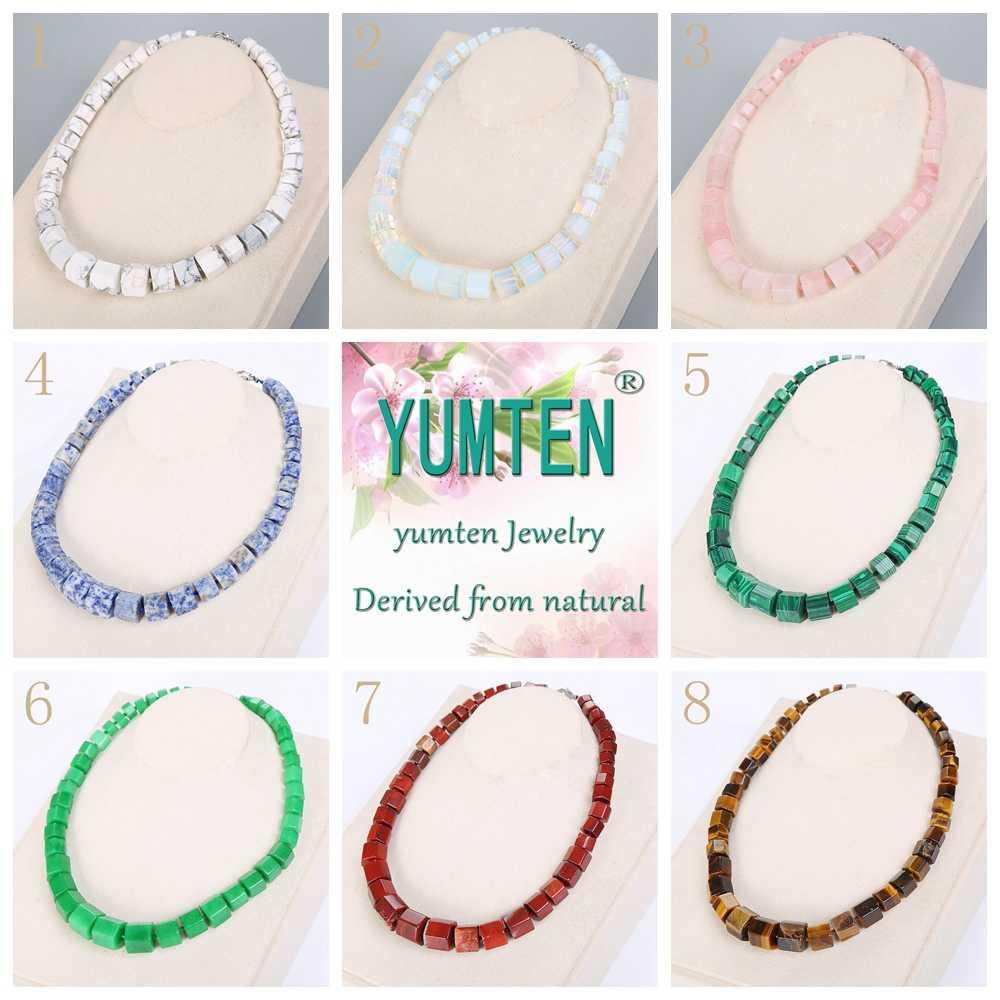 Yumten Women Rainbow Necklace Ethnic Men Big Choker Stone Jewelry Statement Female Vintage Accessories Fashion Healing Pendant