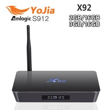 3 GB/16 GB Amlogic X92 S912 Android 6.0 TV Box Octa Core Kodi 16.1 a Plena Carga 5G Wifi 4 K H.265 X92 Smart Set Top caja