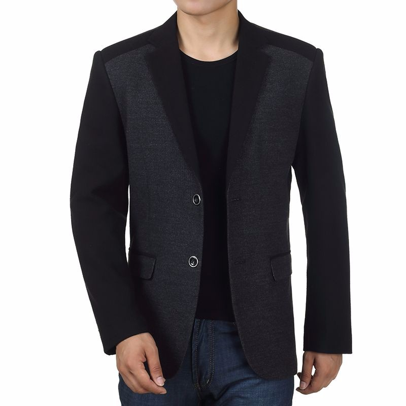 Man Elegance Basic Blazer Black Slim Fit Jackets Men Business Casual Short Blazers Plus Size Terno Masculino Outfits Costume Homme (2)