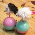 Durable Juguetes Para Mascotas Gato Mimi piel Preferida Ratón Tumbler Juguetes Bolas De Plástico para Gatos perros jugar 5.5 cm