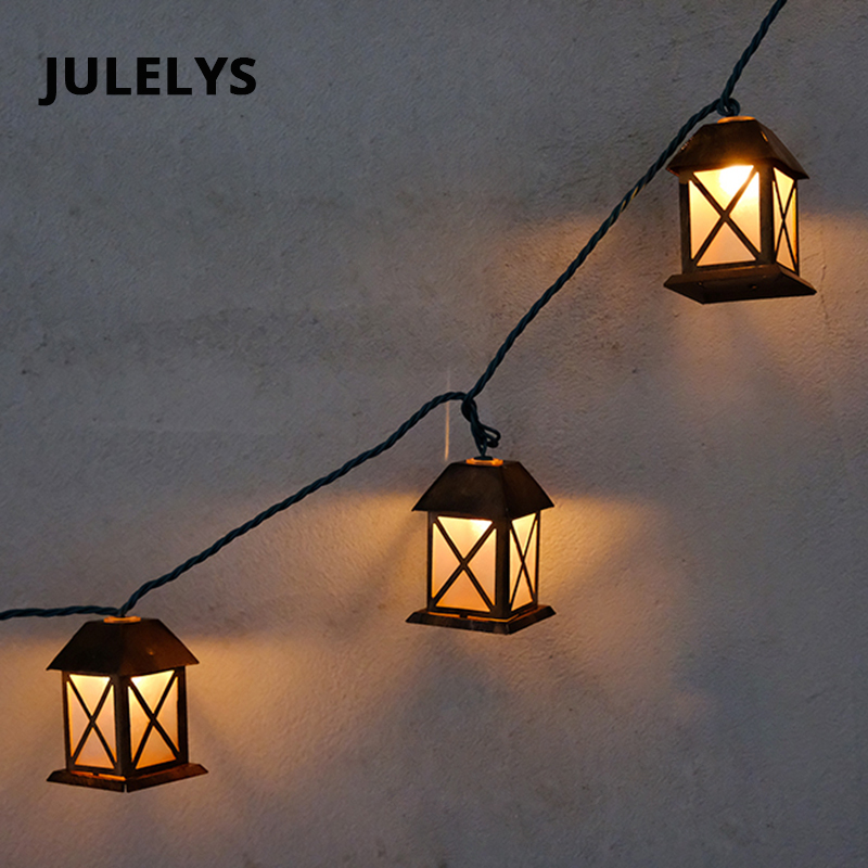 JULELYS LED Retro Garland Outdoor Gerlyanda Christmas House String Lights Decoration For Garden Wedding Holiday Party Birthday