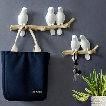 Wall Art Decorative Bird Design Hanger Holder