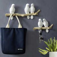 Wall Decorations Home Accessories Living Room Hanger Resin Bird key Bedroom kitchen Coat Clothes Towel Hooks Hat Handbag Holder