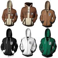 Anime Attack On Titan hoodie jacket Shingeki no Kyojin Legion Eren cosplay costume Sweatshirts Zipper Hoodies