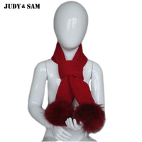 JS FUR Design Warm Winter Brand Quality Wool Blend Scarf For Boys And Girls Cute Real