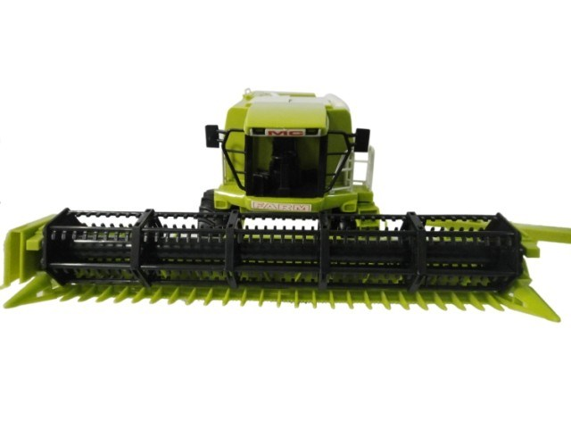 Science and engineering engineering vehicle, double harvester, farmer car, car model toy W106