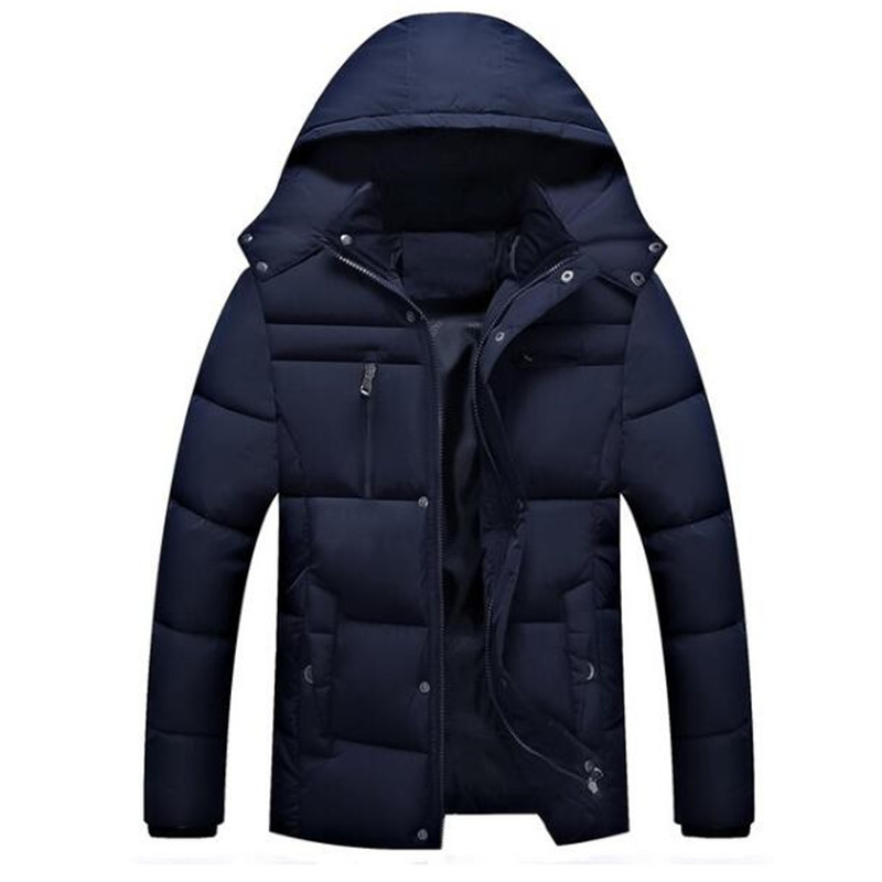 Free shipping Men's Winter Jackets Down Parkas New 2017 Casual Hooded Coats Men Outerwear Thick Cotton Warm Down Jacket Male