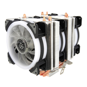 Image 2 - ALSEYE Dual tower CPU cooler 4 heat pipes 4pin 90mm RGB fan for computer processor cooling fan cooler for Intel and AMD