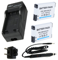 Battery (2-Pack) + Charger for Panasonic Lumix DMC FT5, FT6, DMC-TZ37, DMC TZ40, TZ41, TZ55, TZ57, TZ60, TZ70 Digital Camera