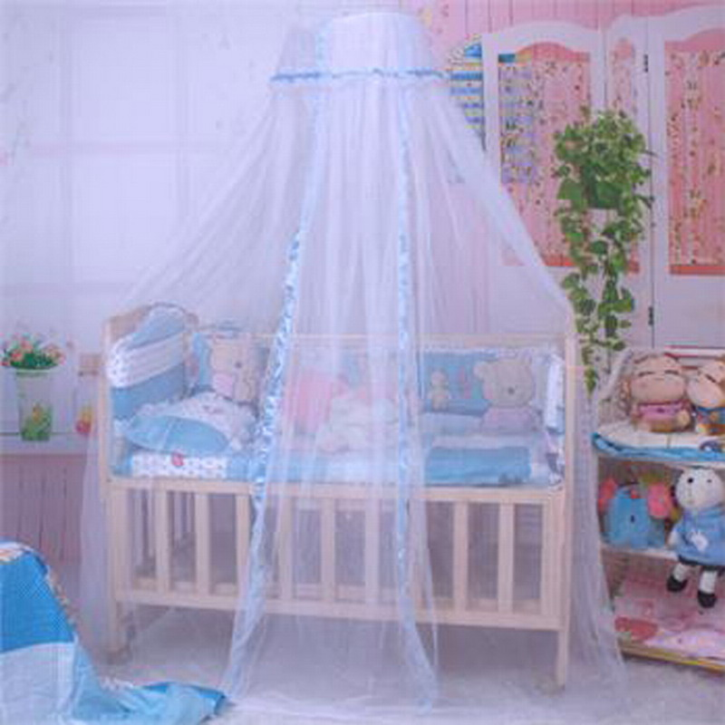 Buy 3 colors 1 pc baby bed mosquito net for Baby crib net