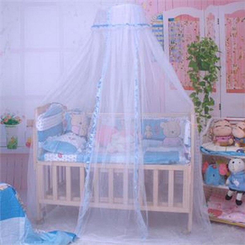 colores unid toldillo de cama de beb lindo beb de la princesa canopy netting
