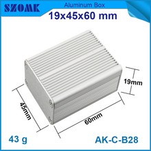 1 piece free shipping aluminum housing enclosure for electrical pcb broad 19*45*60mm