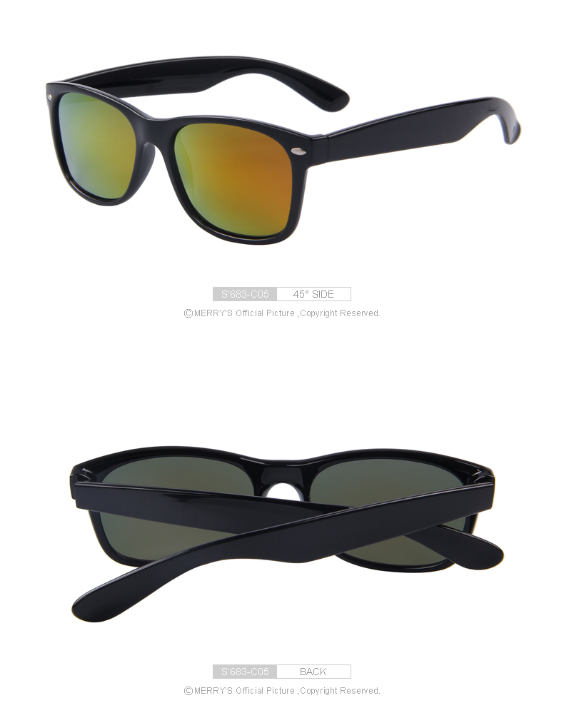 983796af1055 ... MERRY'S Men Polarized Sunglasses Classic Men Retro Rivet Shades Brand  Designer Sun glasses UV400 S' ...