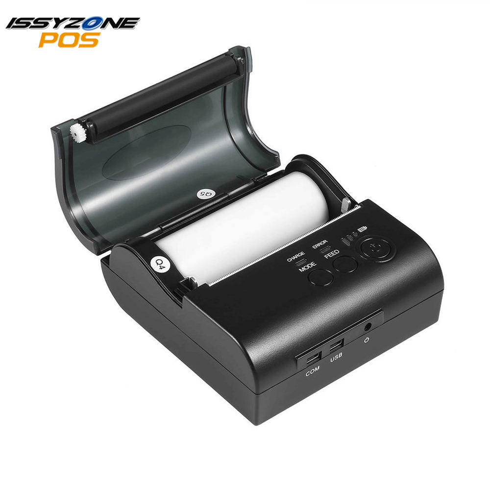 IssyzonPOS 80mm PortableThermal Receipt Bill Printer USB Bluetooth Printer Support Free SDK Support Photo Logo Print With Case in Printers from Computer Office