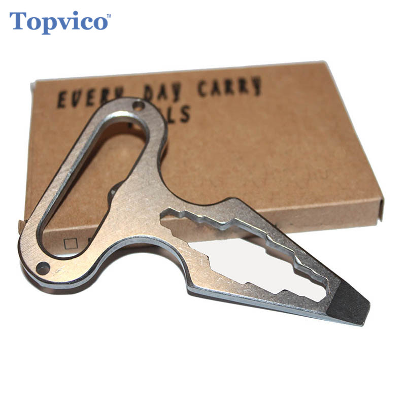 Topvico Self Defense Supplies Protection Tool Weapons Personal Self Defence Stainless Steel Bottle Opener Combination Wrench(China)