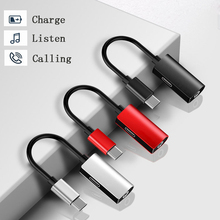 100pcs 2 in 1 Type-c Audio Aux Cable Earphone Converter USB C to 3.5 mm Headphone Jack  Adapter For Huawei/Xiaomi Mi9 /Samsung