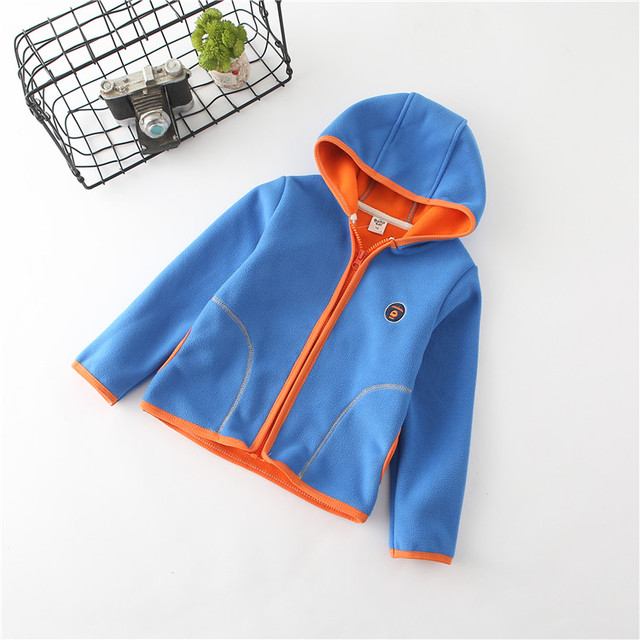 2018 spring autumn fleece children's jackets for girls child hoodies kids cardigan toddler coats for boys baby sweatshirts 2-6T  2