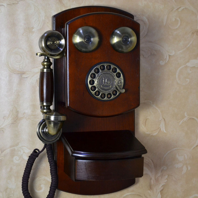Fashion antique vintage telephone american style home - Telefoni a parete ...
