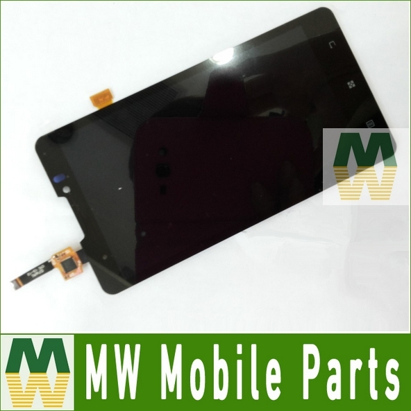 1PC /Lot LCD Display + Touch  Screen Digitizer  For Lenovo  P780 Black Color Free Shipping