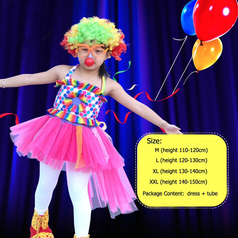d85154c5f Umorden Halloween Carnival Party Mom and Girls Kids Circus Clown Costume  Mother and Daughter Family Matching Cosplay Costume-in Holidays Costumes  from ...